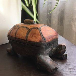 Wooden Turtle/ box